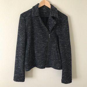 J. Crew Boucle Motorcycle Jacket Blazer